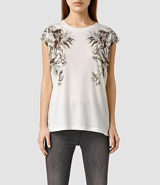 Womens Eden Brooke T-Shirt (Chalk White)