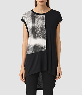 Womens Twilight Step Tee (Black) - product_image_alt_text_1