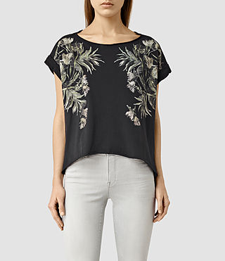 Womens Eden Pina T-Shirt (Black)