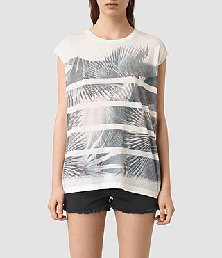 Mujer Java Brooke Tee (Chalk White) - product_image_alt_text_1