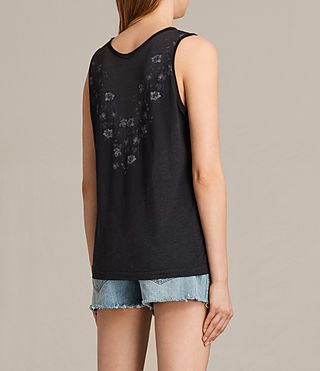 Womens Loire V Ada V Neck Tank Top (DARK NIGHT BLUE) - product_image_alt_text_3