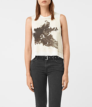 Women's Tulipa Cropped Tee (Chalk White) -