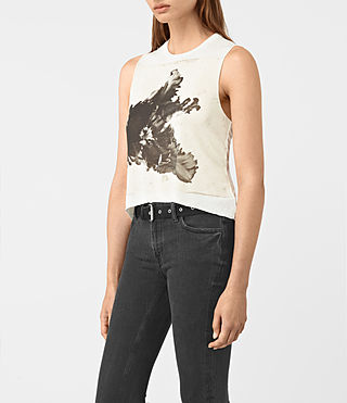 Women's Tulipa Cropped Tee (Chalk White) - product_image_alt_text_2