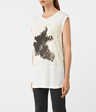 Mujer Tulipa Brooke Tee (Chalk White) - product_image_alt_text_2