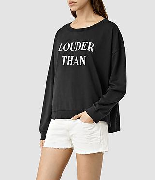 Donne Louder Lo Sweatshirt (Black) - product_image_alt_text_2