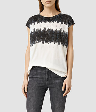 Womens Serpine Brooke T-Shirt (Chalk White)