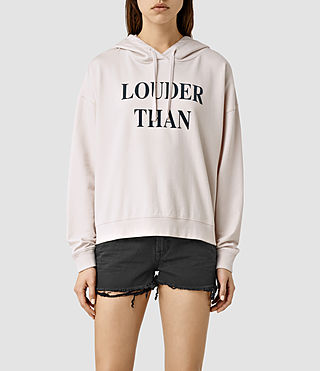 Womens Louder Lo Hoody (OYSTER WHITE)