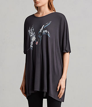 Mujer Camiseta Lovers Dreams (Washed Black) - Image 3