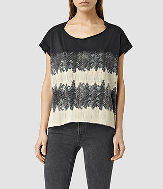 Womens Serpine Pina T-Shirt (Faded Black)