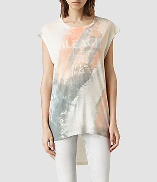 Womens Bleach Step Tee (Chalk White)