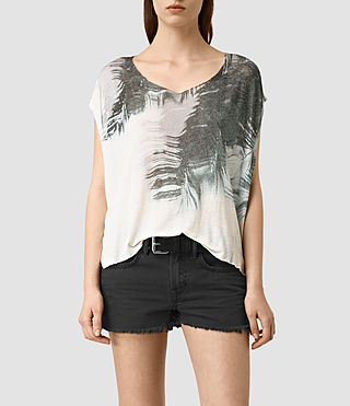 Womens Guinea Mist Tee (Chalk White)