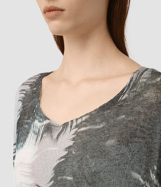 Mujer Guinea Mist Tee (Chalk White) - product_image_alt_text_2