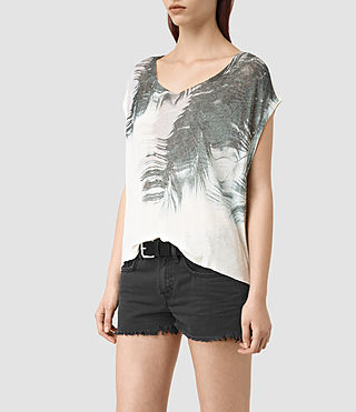 Mujer Guinea Mist Tee (Chalk White) - product_image_alt_text_3