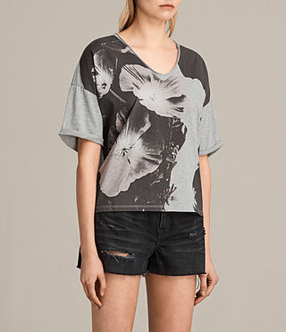 Mujer Camiseta Reality Ada V (Light Grey Marl) - Image 2