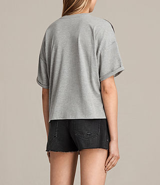 Mujer Camiseta Reality Ada V (Light Grey Marl) - Image 3