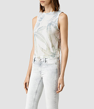 Womens Fuji Eli Tee (Chalk White) - product_image_alt_text_2