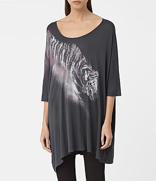 Mujer Tora Dreams Tee (Washed Black)