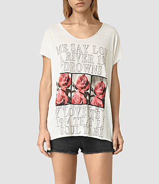 Mujer River Ole Tee (Chalk White)