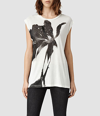 Womens Disperse Top (Chalk)