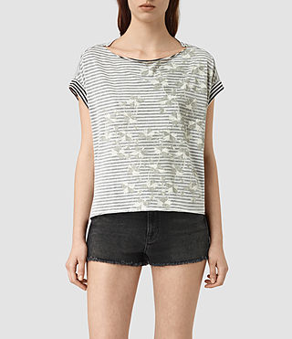 Damen Farrow Pina Tee (CHALK WHITE/BLACK)