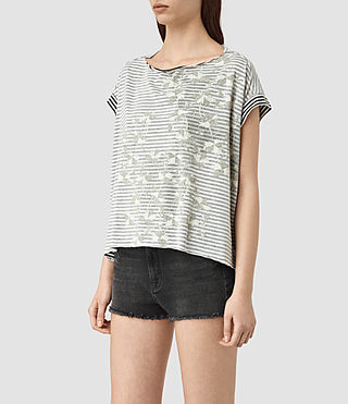 Femmes Farrow Pina Tee (CHALK WHITE/BLACK) - product_image_alt_text_3