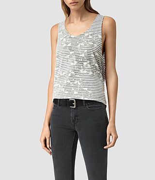 Womens Farrow Noah Vest (CHALK WHITE/BLACK) - product_image_alt_text_1