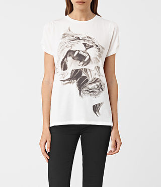 Mujer Flutter Mazzy Tee (SMOG WHITE)