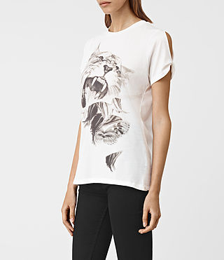 Womens Flutter Mazzy Tee (SMOG WHITE) - product_image_alt_text_2