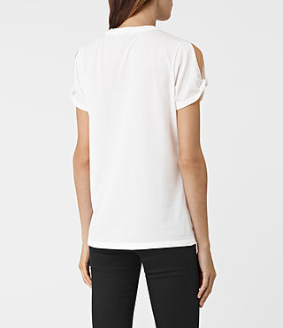 Womens Flutter Mazzy Tee (SMOG WHITE) - product_image_alt_text_3