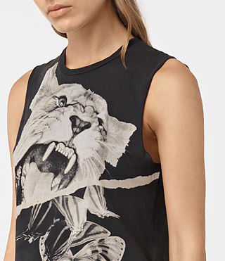 Womens Flutter Cropped Tee (Fadeout Black) - product_image_alt_text_2