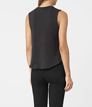 Womens Flutter Cropped Tee (Fadeout Black) - product_image_alt_text_3