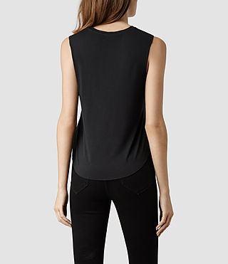 Womens Gato Cropped Top (Washed Black) - product_image_alt_text_3