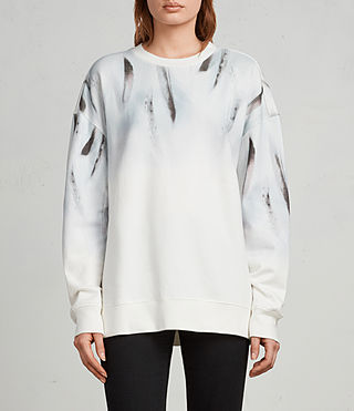 Damen Plume Joy Sweatshirt (Chalk White) - Image 1
