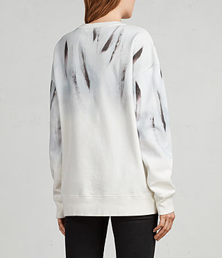 Damen Plume Joy Sweatshirt (Chalk White) - Image 4