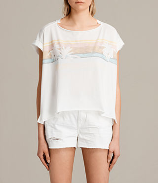 Mujer Camiseta Gloam Pina (Chalk White) - product_image_alt_text_1