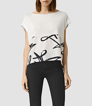 Womens Tokyo Pina Tee (Chalk White) - product_image_alt_text_1