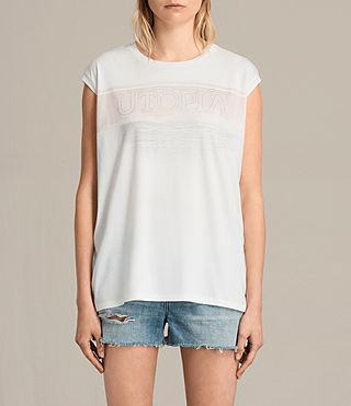 Donne T-shirt Lanka Brooke (Chalk White) -