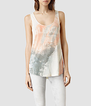 Womens Bleach Bard Tank (Chalk White)