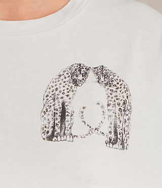 Mujer Camiseta Cheetah Cori (Chalk White) - product_image_alt_text_2