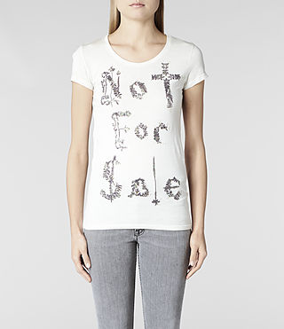 Womens Laurels T-shirt (Ivory Spray) - product_image_alt_text_1