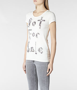 Womens Laurels T-shirt (Ivory Spray) - product_image_alt_text_2