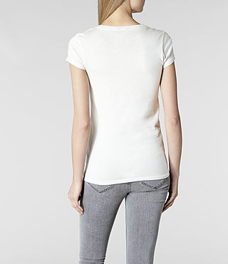 Womens Laurels T-shirt (Ivory Spray) - product_image_alt_text_3