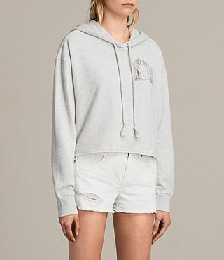 Womens Cheetah Rea Hoody (Light Grey Marl) - product_image_alt_text_3