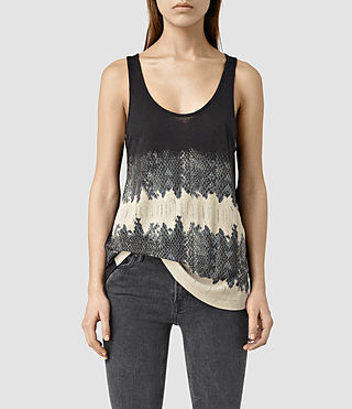 Womens Serpine Bard Tank (Black)