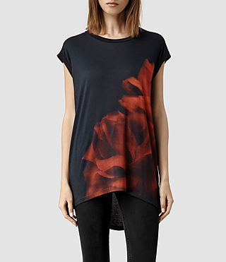 Womens Burnt Rose Top (Ebony)
