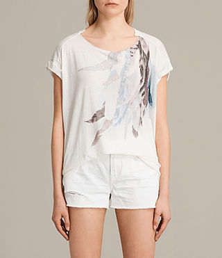 Mujer Camiseta Flight Pina (Chalk White) - product_image_alt_text_1