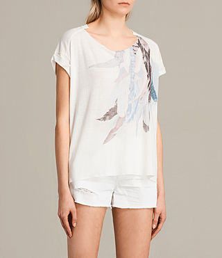 Mujer Camiseta Flight Pina (Chalk White) - product_image_alt_text_2