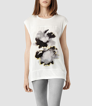 Womens Aura T-shirt (Chalk)