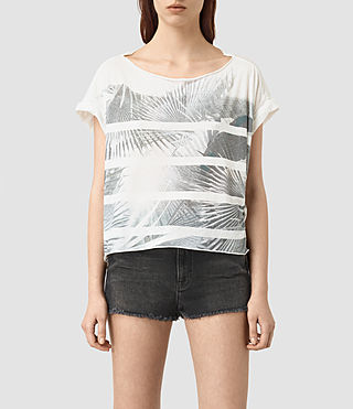Womens Java Pina Tee (Chalk White)
