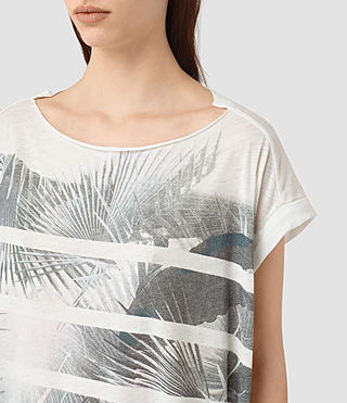 Womens Java Pina Tee (Chalk White) - product_image_alt_text_2